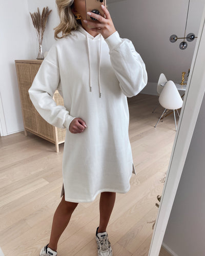 Peva hoodie dress off white
