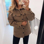 Sigga wool jacket camel check