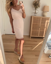 Wonda singlet short dress sepia rose