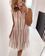 Iloss shirtdress white/light pink