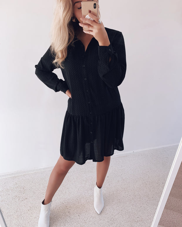Nimble shirtdress black
