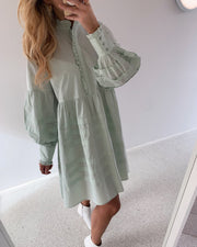 Nellie ls dress sea foam