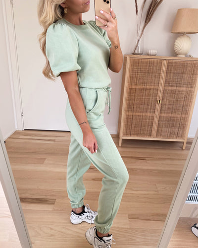 Daisy high waist sweat pants laurel green