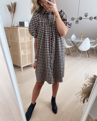 Nibina dress black/beige check