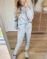 Chilli high waist sweat pants light grey melange