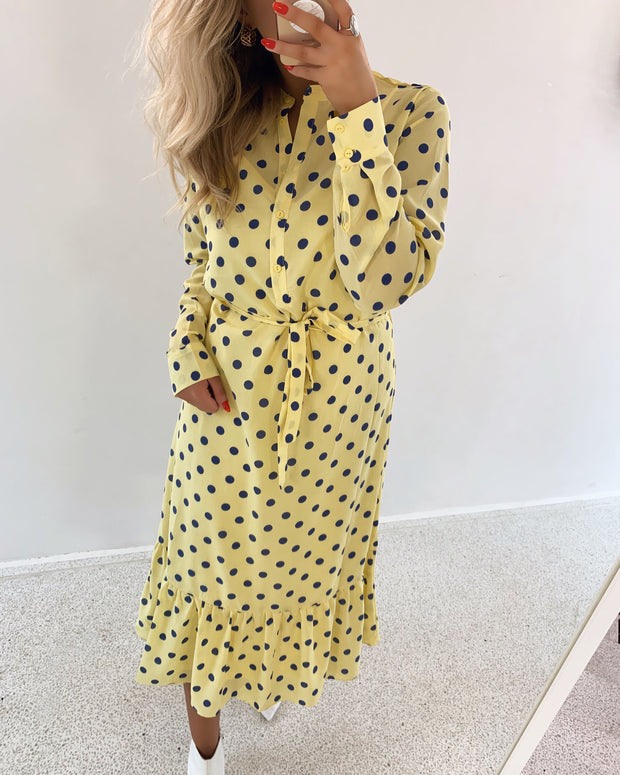 Vefia dress lemonade dot