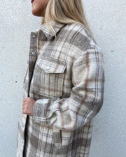 Caly jacket brown check