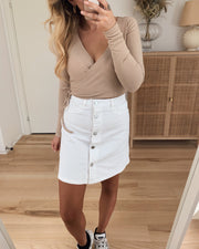 Sunny short skater skirt bright white