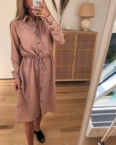 Vikala dress dusty rose/black