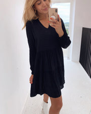 Egum dress black dot