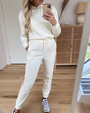 Chilli high waist sweat pants white pepper