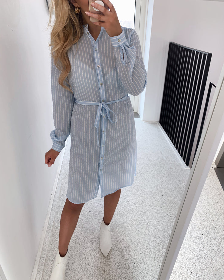 Valsi dress blue bell stripe