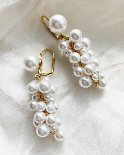 Multi pearl earrings