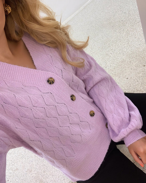 Duffy long sleeved knit cardigan
