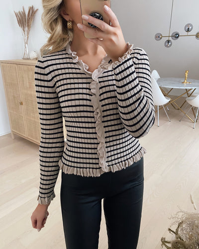 Fabia cardigan white pepper