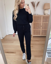 Natalia l/s oversized sweat black - FORUDBESTILLING