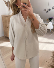 Emia shirt white/sand