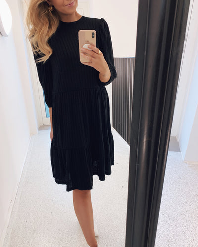 Vini puff dress black