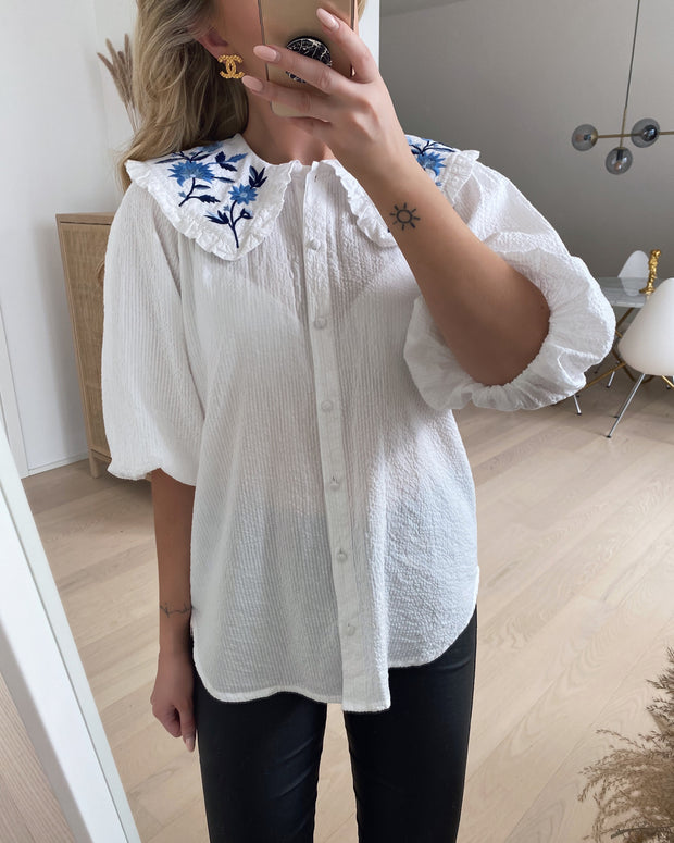 Ivana shirt white/blue