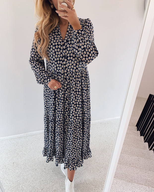 Daisy long dress navy