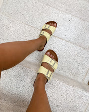 Carla leather sandal mellow yellow