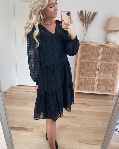 Love503 dress black check