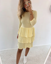 Cris dress yellow/cream