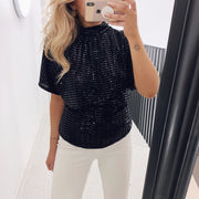 Girl top black/black