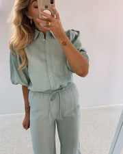 Ella shirt sea green