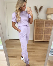 Daisy high waist pants pastel lilac