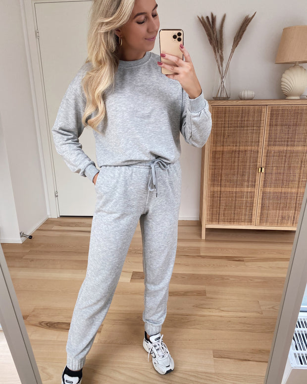 Natalia l/s oversized sweat light grey