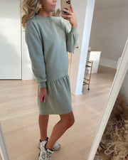 Natalie l/s dropped sweat dress desert sage