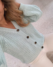 Momo cardigan mint green