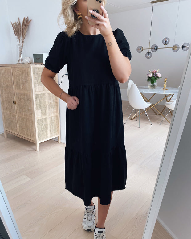 Sessi s/s ankle dress black