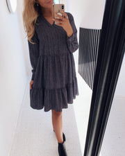 Glider dress blue/leo stripes