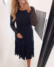 Edda dress black glitter