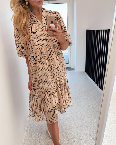 Love460-1 dress powder dot