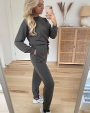 Natalia high waist sweat pant bungee cord