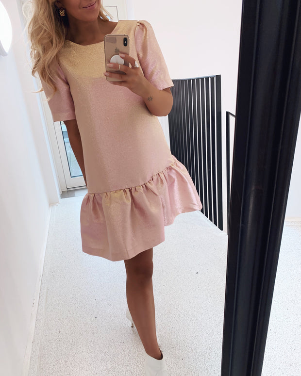Jane short sleeve dress pink