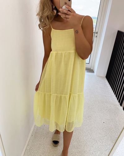Agnethe mididress yellow