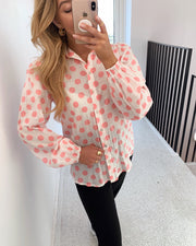 Ebbey shirt pink dot
