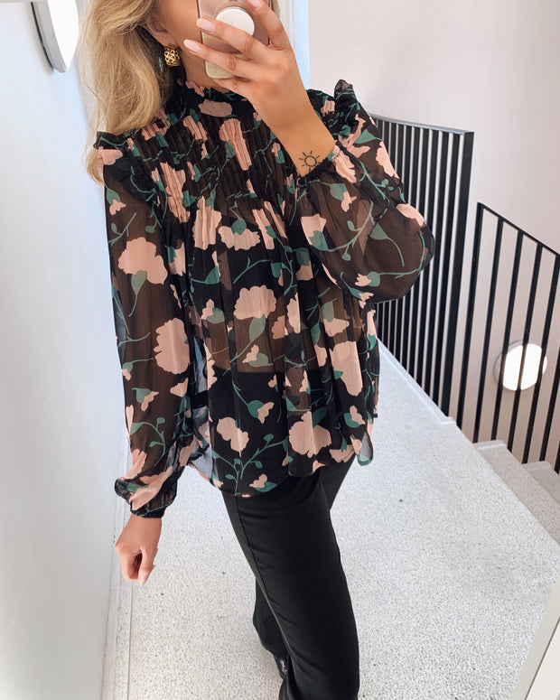 Aima blouse big flower