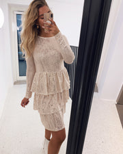 Cris dress cream/gold