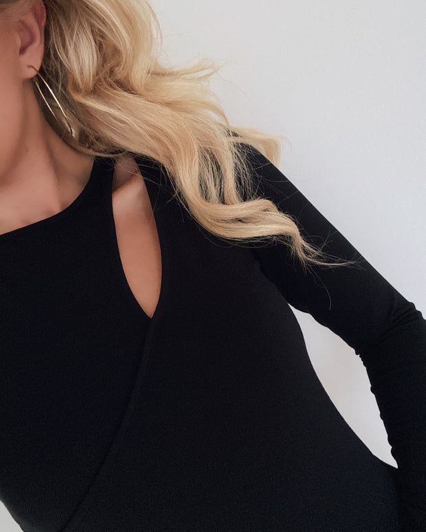 Pinta long sleeved blouse black