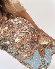 Garty top paisley/dots