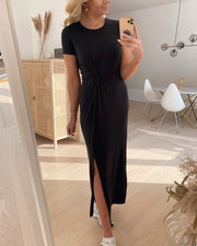 Ava lulu ss ancle dress black