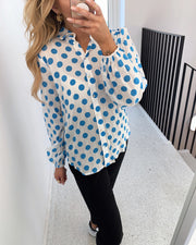 Ebbey shirt blue dot