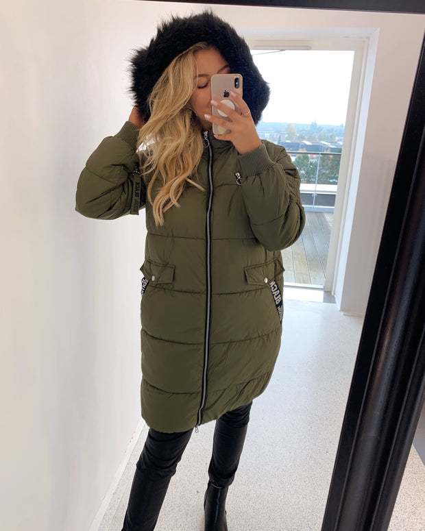 Chunky jacket ivy green