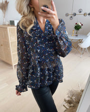 Ilse blouse blue/flower