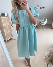 Meda dress mint check